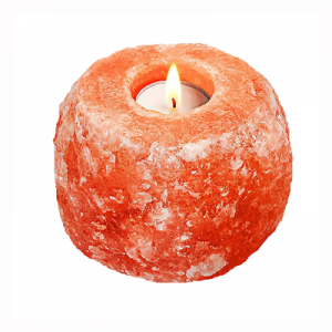 Natural Salt Candle Holder